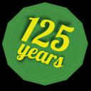 125 years badge
